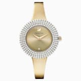Crystal Rose Watch, Metal Bracelet, Golden, Champagne-gold tone PVD - Swarovski, 5484045