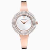 Crystal Rose Uhr, Metallarmband, weiss, Rosé vergoldetes PVD-Finish - Swarovski, 5484073