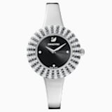 Crystal Rose Watch, Metal Bracelet, Black, Stainless Steel - Swarovski, 5484076