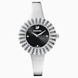 Crystal Rose karóra, fém karkötő, fekete, rozsdamentes acél - Swarovski, 5484076