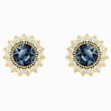 Millennium 耳釘, 藍色, 鍍金色色調 - Swarovski, 5484167