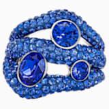 Tigris Cocktail Ring, Blue, Palladium plated - Swarovski, 5484498