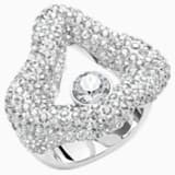 Tigris Open Ring, Gray, Palladium plated - Swarovski, 5484501