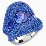 Tigris Ring, Blue, Palladium plated - Swarovski, 5484506