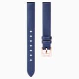 14mm 錶帶, 絲綢, 藍色, 鍍玫瑰金色調 - Swarovski, 5484607