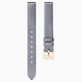 14mm Watch strap, Silk, Gray, Rose-gold tone plated - Swarovski, 5484614
