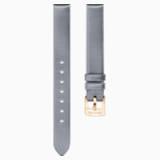 14mm Watch strap, Silk, Grey, Rose-gold tone plated - Swarovski, 5484614