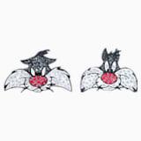 Manžetové knoflíky Looney Tunes Silvestr, Vícebarevné, Rhodiem pokovené - Swarovski, 5484687