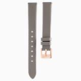 Cinturino per orologio 13MM, grigio talpa, PVD tonalità oro champagne - Swarovski, 5485042