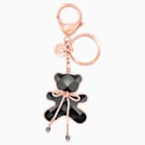 Archibald Hug Me Bag Charm, Black, Rose gold plating - Swarovski, 5485867