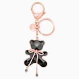 Accesorio para bolso Archibald Hug Me, negro, baño de oro rosa - Swarovski, 5485867