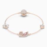 Braccialetto Dazzling Swan, multicolore, Placcato oro rosa - Swarovski, 5485877