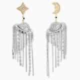 Celestial Fit 穿孔耳环, 彩色设计, 多种金属润饰 - Swarovski, 5486026