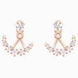 Penélope Cruz Moonsun 穿孔耳环花托, 白色, 镀玫瑰金色调 - Swarovski, 5486351