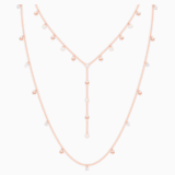 Penélope Cruz Moonsun Necklace, Long, White, Rose-gold tone plated - Swarovski, 5486650