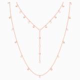 Penélope Cruz Moonsun Necklace, Long, White, Rose-gold tone plated - Swarovski, 5486650