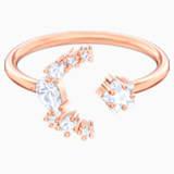 Penélope Cruz Moonsun 開口戒指, 白色, 鍍玫瑰金色調 - Swarovski, 5486803