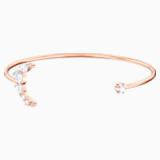 Bracciale rigido Penélope Cruz Moonsun, bianco, Placcato oro rosa - Swarovski, 5486810