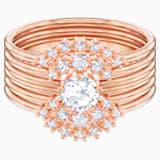 Penélope Cruz Moonsun Stacking Ring, White, Rose-gold tone plated - Swarovski, 5486811
