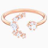 Penélope Cruz Moonsun Open Ring, White, Rose-gold tone plated - Swarovski, 5486814