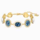 Millennium Bracelet, Blue, Gold-tone plated - Swarovski, 5486981