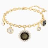 Millennium Bracelet, Multi-colored, Gold-tone plated - Swarovski, 5486998