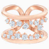 North Motif Ring, White, Rose-gold tone plated - Swarovski, 5487071