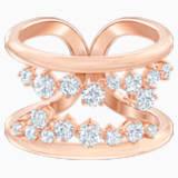 Prsten s motivem North, Bílý, Pozlacený růžovým zlatem - Swarovski, 5487071