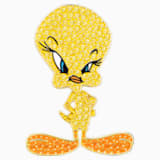 Looney Tunes Tweety Tie Pin, Yellow, Gold-tone plated - Swarovski, 5487641
