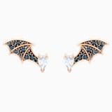 Prosperity Stud Pierced Earrings, Multi-colored, Rose-gold tone plated - Swarovski, 5488203