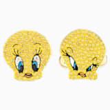 Manžetové knoflíky Looney Tunes Tweety, Žluté, Pozlacené - Swarovski, 5488598
