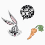 Looney Tunes Bugs Bunny Tie Pin Set, Multi-colored, Rhodium plated - Swarovski, 5488791