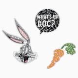 Set di pin da cravatta Looney Tunes Bugs Bunny, multicolore, Placcatura rodio - Swarovski, 5488791
