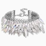 Polar Bestiary Bracelet, White, Rhodium plated - Swarovski, 5489073