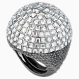 Koktejlový prsten Celestial Fit, šedý, černé ruthenium - Swarovski, 5489079