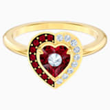 Black Baroque Motif Ring, Red, Gold-tone plated - Swarovski, 5489126
