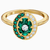 Black Baroque Motif Ring, Green, Gold-tone plated - Swarovski, 5489128