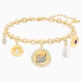 Vintage Swan 手鏈, 多色設計, 鍍金色色調 - Swarovski, 5489217