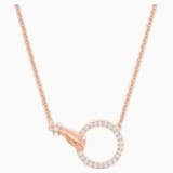 Swarovski Symbolic Necklace, White, Rose-gold tone plated - Swarovski, 5489573
