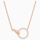 Swarovski Symbolic Necklace, White, Rose-gold tone plated - Swarovski, 5489573