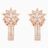 Penélope Cruz Moonsun Pierced Earring Jackets, Limited Edition, White, Rose-gold tone plated - Swarovski, 5489778