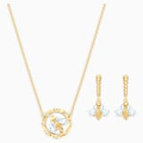 Bee A Queen Set, White, Gold-tone plated - Swarovski, 5490887