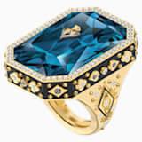 Tarot Magic 鸡尾酒戒指, 蓝色, 镀金色调 - Swarovski, 5490913