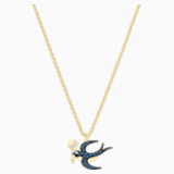 Tarot Magic Necklace, Blue, Gold-tone plated - Swarovski, 5490922