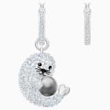 Polar 穿孔耳環, 多色設計, 鍍銠 - Swarovski, 5491550