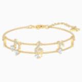 Pleasant-armband, Wit, Goudkleurige toplaag - Swarovski, 5491658