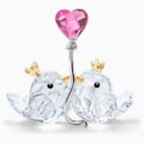 Zakochane ptaszki, Różowe serce - Swarovski, 5492226