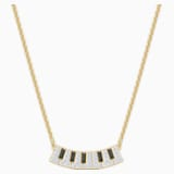Pleasant Piano Necklace, Multi-coloured, Gold-tone plated - Swarovski, 5493366