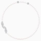 Collier Nice, blanc, Métal rhodié - Swarovski, 5493403