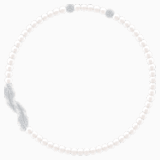 Nice Necklace, White, Rhodium plated - Swarovski, 5493403
